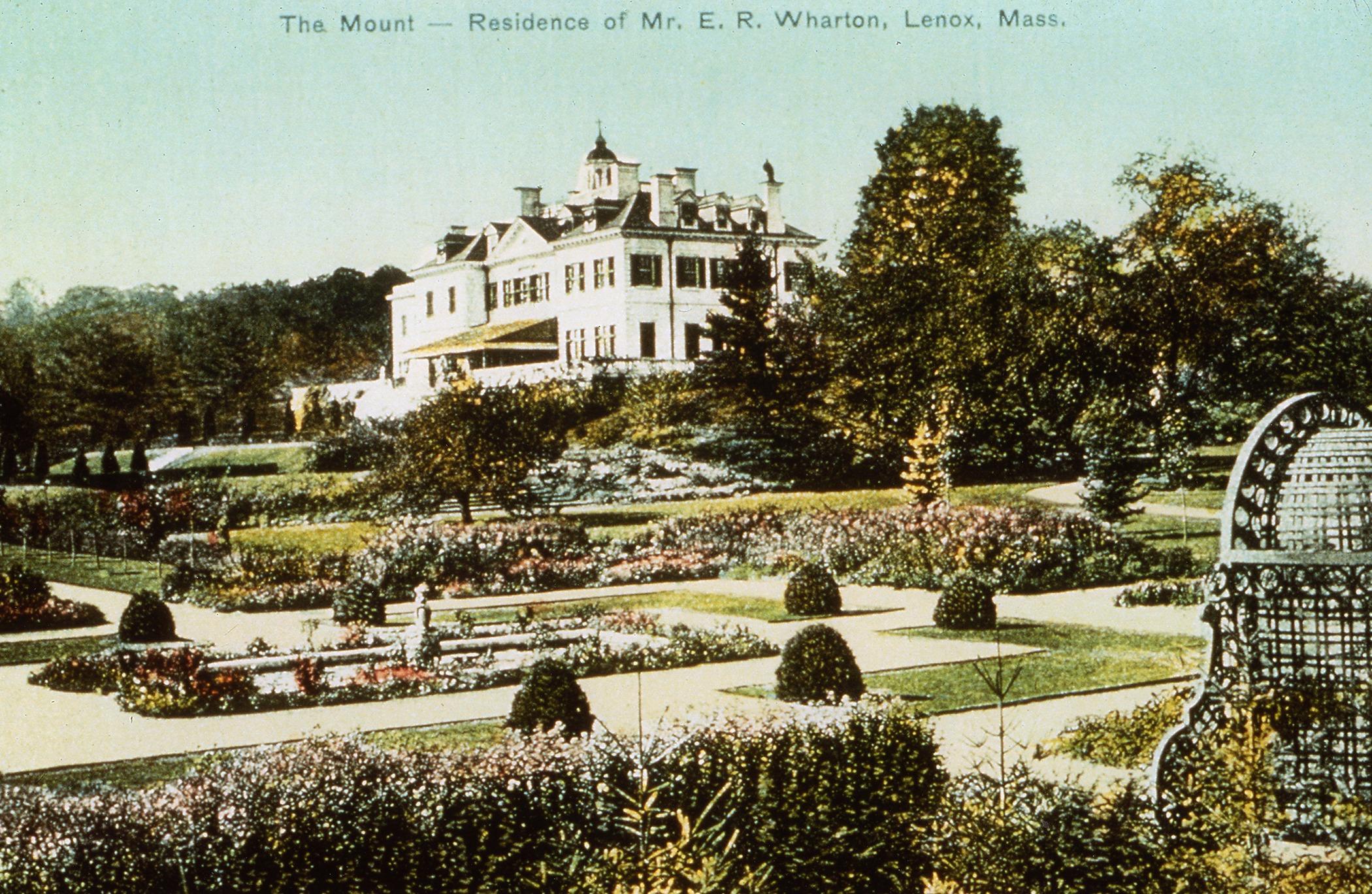The Mount tinted postcard circa 1910 courtesy Lenox Library Association