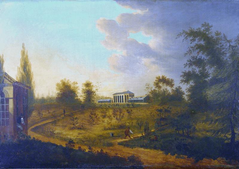 Painting of the Elgin Botanic Gardens, 1810