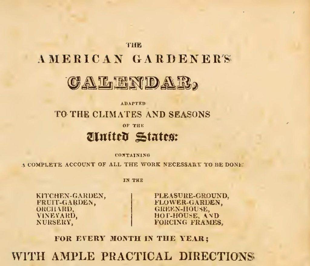 The American Gardeners Calendar