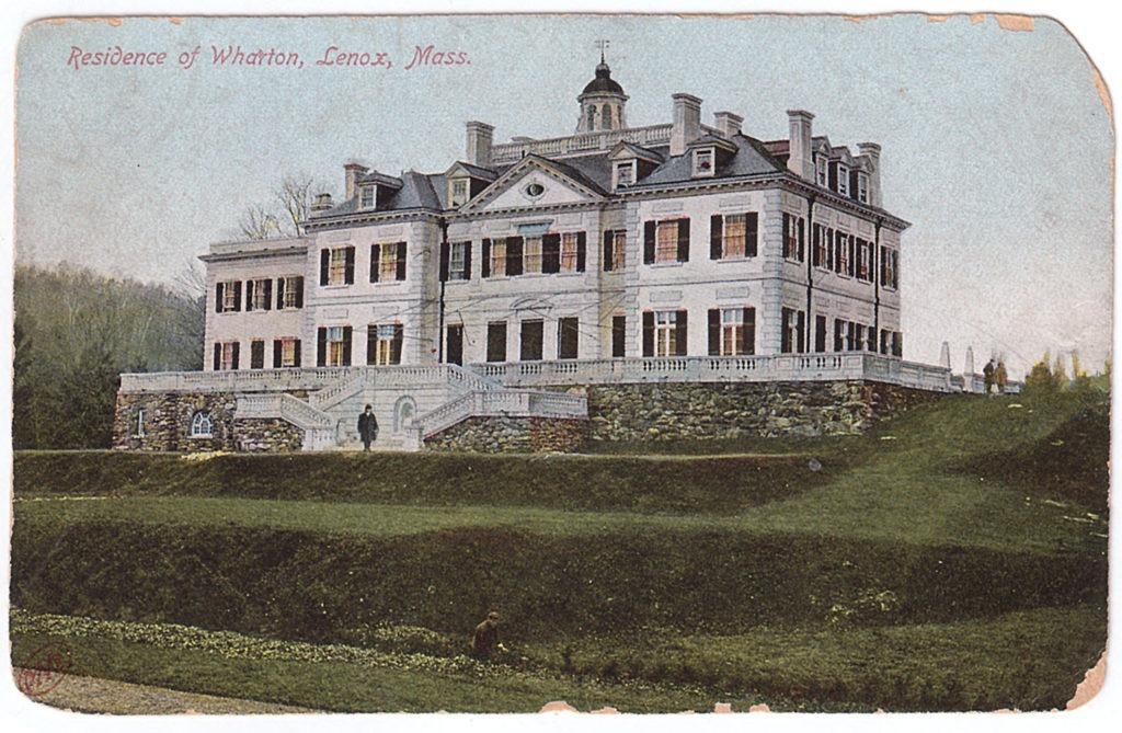 Postcard image of Mount with gardener