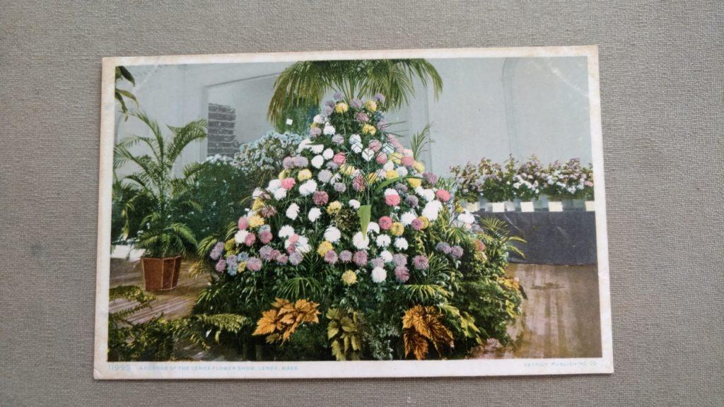Lenox Flower Show postcard