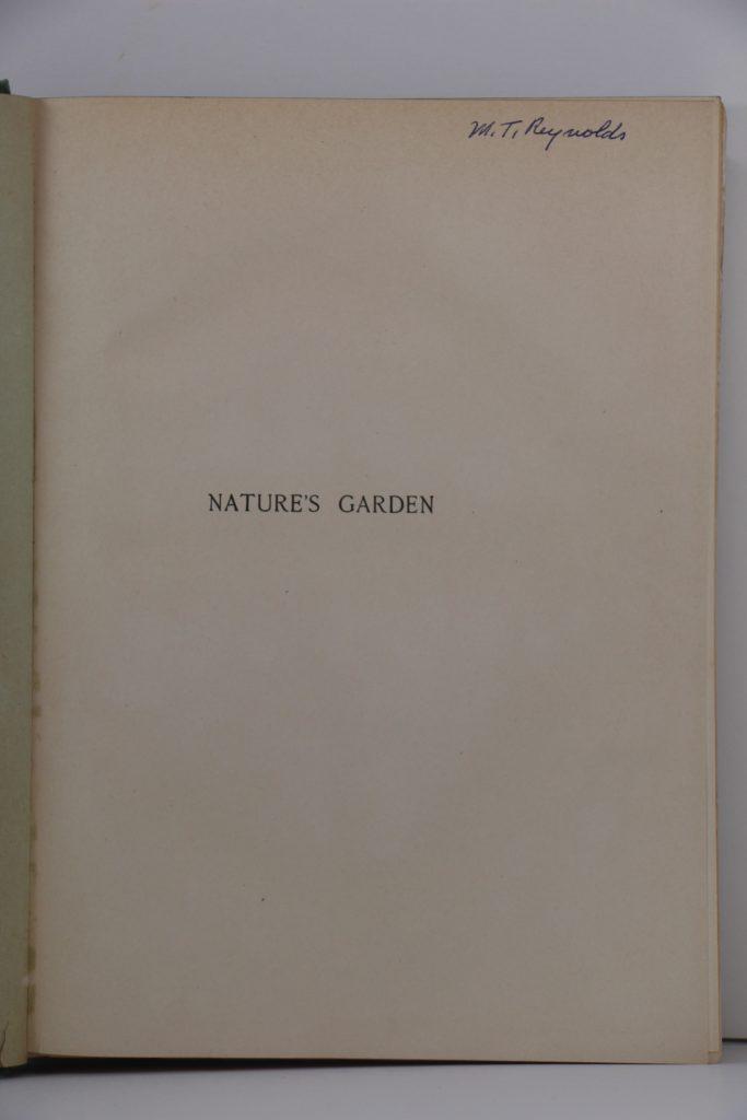 Nature's Garden Inscription